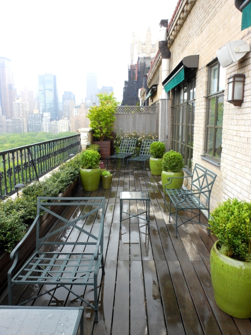 Central Park West Penthouse Garden Jeffrey Erb