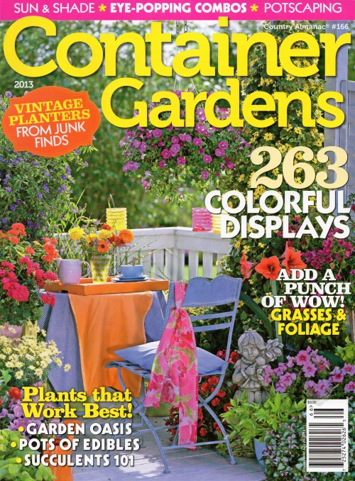 Container Gardens April 2013 Magazine Available Now