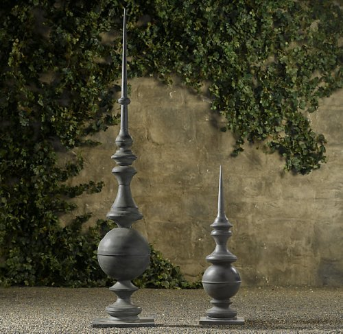 Restoration hardware tall zinc finials